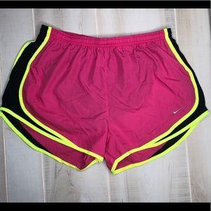 Nike dri fit running shorts pink size L
